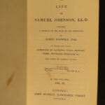 1835 Life of Samuel Johnson by James Boswell FAMOUS English Biography 10v SET
