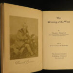 1905 Theodore Roosevelt Winning of the West Americana INDIAN Wars 6v SET