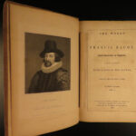 1841 Works of Francis Bacon Philosophy Science Essays Montagu 3v American ed