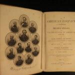 1864 1ed CIVIL WAR American Conflict Greeley Slavery Emancipation anti-South CSA