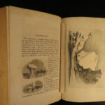 1854 Arctic Explorations Voyages Franklin Grinnell Expedition Map Elisha Kane
