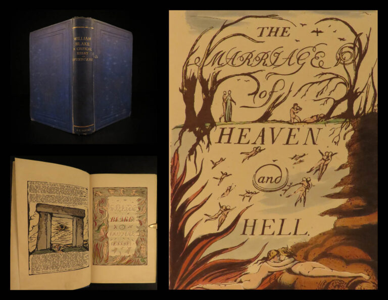 Image of 1868 William Blake ART Essay by Swinburne Prophecy Illustrated Myths Heaven Hell