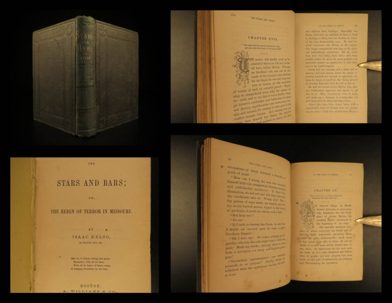 Image of 1863 1st ed CIVIL WAR Reign of Terror in Missouri Stars and Bars by Isaac Kelso