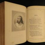 1860 EXQUISITE Binding John Milton Paradise Lost Montgomery Memoir Poetical 2in1