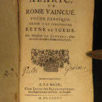 1685 King Alaric Visigoth Sack of ROME Heroic Scudery Illustrated Queen Sweden