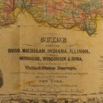 1854 HUGE MAP Colton's Western Tourist Emigrant's Guide Americana California