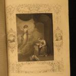 1850 BEAUTIFUL Life of Jesus Christ Bible Fleetwood Miracles Jews Resurrection
