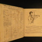 1846 System for VIOLIN American Music Scores String Techniques Lessons Hanks