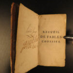 1767 Fables of Jean de Fontaine w/ MUSIC French Literature Aesop Poetry Songs