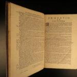 1696 AQUINAS 1ed Sylvius Commentary on SUMMA Catholic Theology HUGE FOLIO