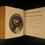 1870 EXQUISITE Family Holy BIBLE + Apocrypha Concordance Illustrated Stowe
