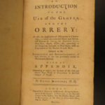 1752 Astronomy Jennings Introduction to Use of Globes Solar System Planets Stars