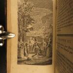 1754 1ed Don Quixote la Mancha Cervantes Illustrated Chasles French 6v Brocas