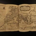 1661 Julius Caesar Wars Bello Africum MAP Elzevier Scaliger Hirtius + PROVENANCE