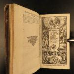1670 Holy BIBLE Biblia Sacra Vulgate PENTATEUCH Paris Leonard Clement VIII