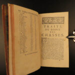1764 HUNTING LAWS France Code of Chasses Louis XIV Game Birds Saugrain 2v