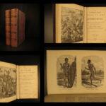 1871 Uncivilized Races of Men Wood Magic Rites VAMPIRES Torture Illustrated 2v