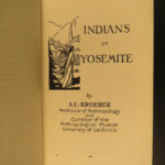 1921 Yosemite National Park Ansel Hall SIGNED Indians Geology Illustrated Map