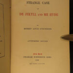 1888 Dr Jekyll & Mr Hyde Robert Louis Stevenson Horror Fiction Early US ed