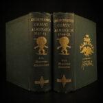 1881 George Cruikshank Comic ART Almanack Caricature Thackeray Illustrated Humor