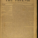 1848 Early Americana The Friend Quaker Religious INDIANS Slavery Abolition 7v