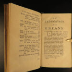 1760 John LOCKE on Education of Children Philosophy Coste French Laussane 2v SET