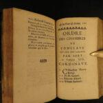 1689 Pope Alexander VIII 1st ed Papal Conclave Memoirs Catholic Church Venice