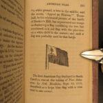 1865 US Constitution Declaration Washington Farewell Emancipation American Flag