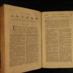 1778 Greek New Testament BIBLE + Samuel Hardy Latin Commentary 2v Kaine Diatheke