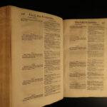 1643 HUGE 1ed New Testament BIBLE & Commentary Novarini of Verona Gospel Luke