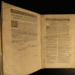 1642 HUGE 1ed New Testament BIBLE & Commentary Novarini Verona Matthew & Mark