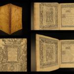 1588 Sannazaro Italian Renaissance Poetry Della Vergine Venice Giolito Woodcuts