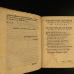 1605 1ed Fiammelli La Riga Matematica Military Engineering Civil Mathematics