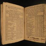 1785 Boston Revolutionary War Soldier Colonial America Weatherwise Almanac