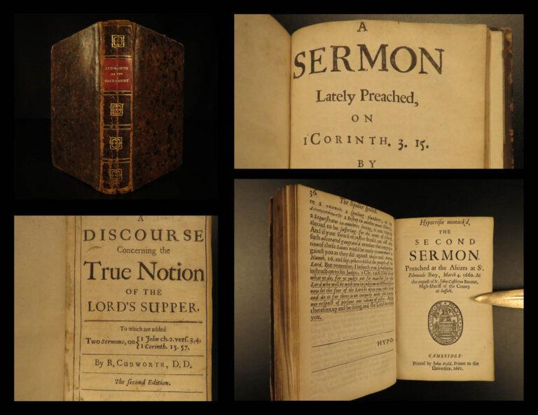 Image of 1670 Ralph Cudworth Anglican Bible Sermons Puritan England Thorndike Hymns RARE