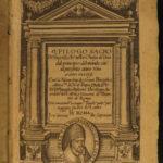 1610 1ed Catholic Church Italian POPES Charlemagne Ballerini Sacro de Successi