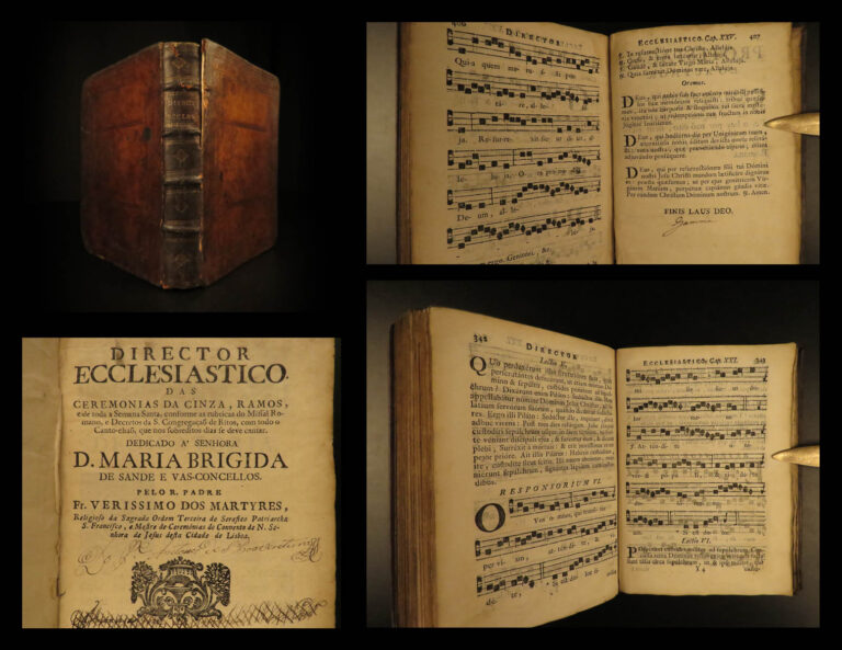 Image of 1755 Portuguese Catholic Bible Missal Holy Week Breviary MUSIC Lisbon Portugal