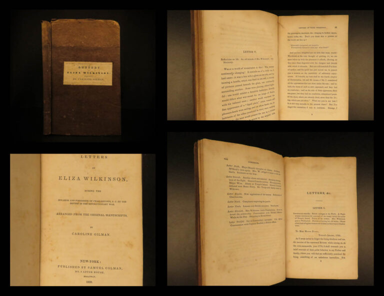 Image of 1839 1ed Revolutionary WAR Letters of Eliza Wilkinson American George Washington