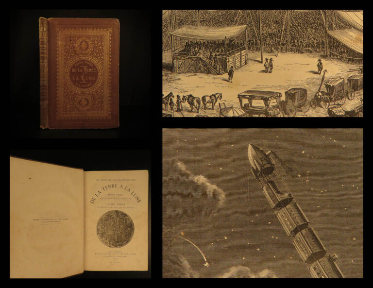 Image of 1875 1ed Jules Verne From the Earth to the Moon Astronauts SciFi Space Gun Club