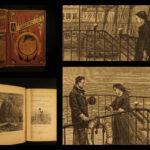 1875 Jules Verne Floating City Blockade Runners Adventure Illustrated EARLY ed