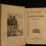 1859 Voyages of Capt James Cook Hawaii Australia New Zealand BEAUTIFUL BINDING