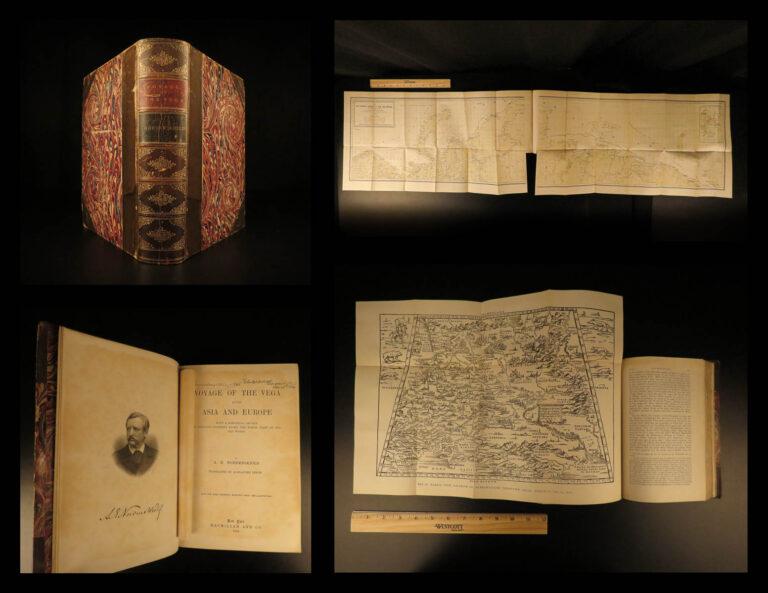 Image of 1882 1st ed Voyage of the VEGA Nordenskiold Voyage Sweden Northeast ASIA