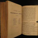 1839 Torah Hebrew BIBLE Leusden & van der Hooght Hebraica Biblia Judaica Jewish