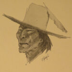1903 Frederick Remington ART Cowboys & INDIANS Done in the Open American West