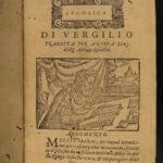 1586 VIRGIL Georgics Aeneid Georgics Bucolics Italian Poetry Woodcuts Venice