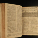 1745 London Magazine Portuguese Voyages in East Indies Siege of Ostend MAP Turks