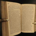 1664 VIRGIL Works Aeneid Georgics Eclogues Bucolic Latin Heinsius Elzevier RARE