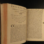 1581 Epistolarum Paulus Manutius Venetian Humanism Philosophy Aldine Cicero 2v