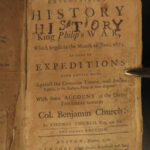 1772 Plymouth Colony History + King Philip's War Indian Thomas Church Americana