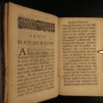 1692 1ed Sappho & Anacreon Classical GREEK Erotic Poetry Longepierre French